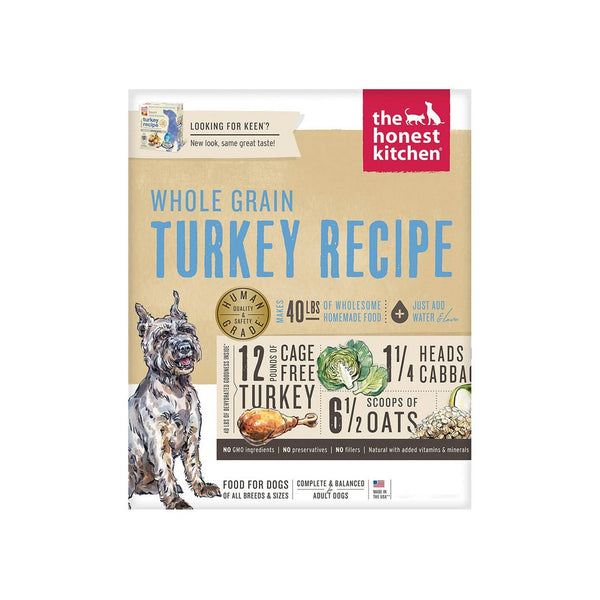 Honest Kitchen Whole Grain Turkey Recipe Dehydrated Dog Food