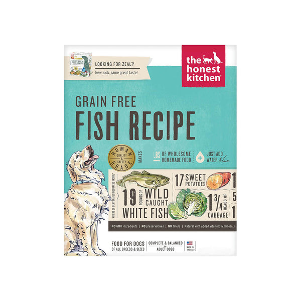 Honest Kitchen Grain Free Fish Recipe Dehydrated Dog Food