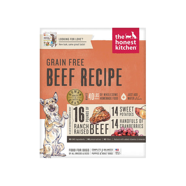 Honest Kitchen Grain Free Beef Recipe Dehydrated Dog Food