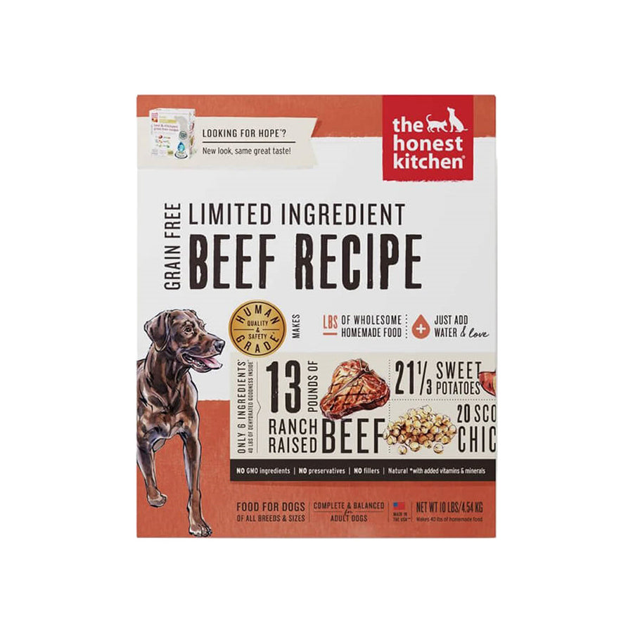 Honest Kitchen Hope Grain Free Limited Ingredient Beef Dehydrated Dog Food