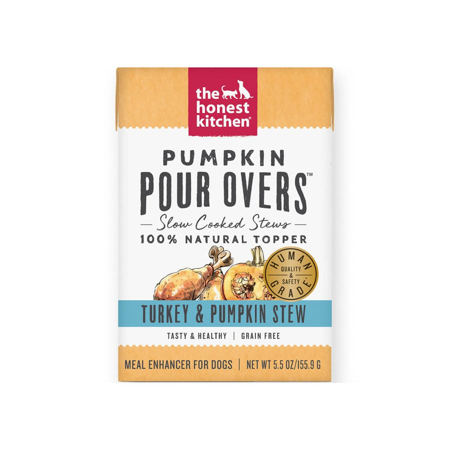 Honest Kitchen Pumpkin Pour Overs Slow Cooked Meal Enhancer for Dogs
