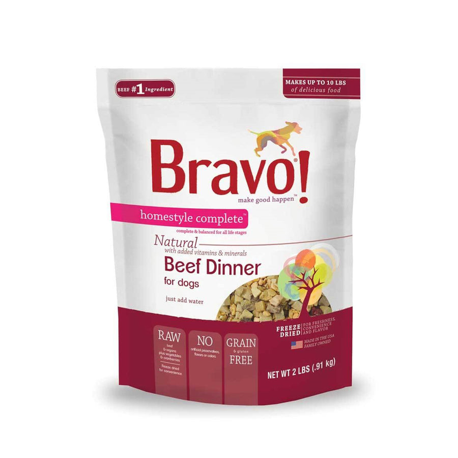 Bravo! Homestyle Complete Freeze-Dried Raw Grain-Free Dog Food