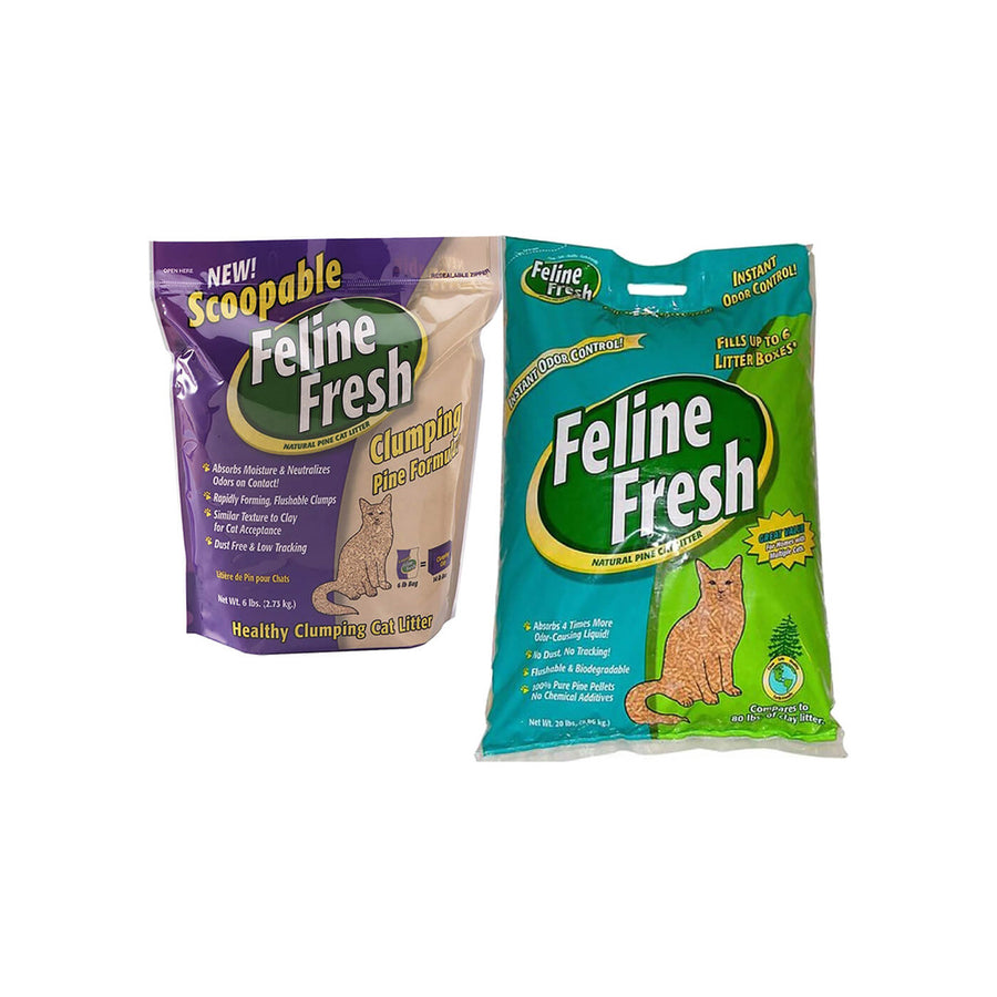 Feline Fresh Instant Odor Control Pelleted Natural Pine Cat Litter