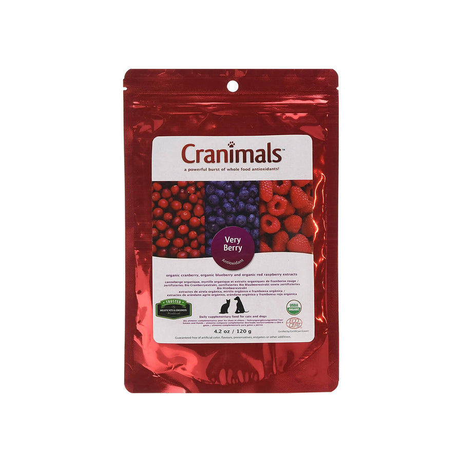 Cranimals Very Berry Antioxidant Organic Extract Supplement for Dogs & Cats
