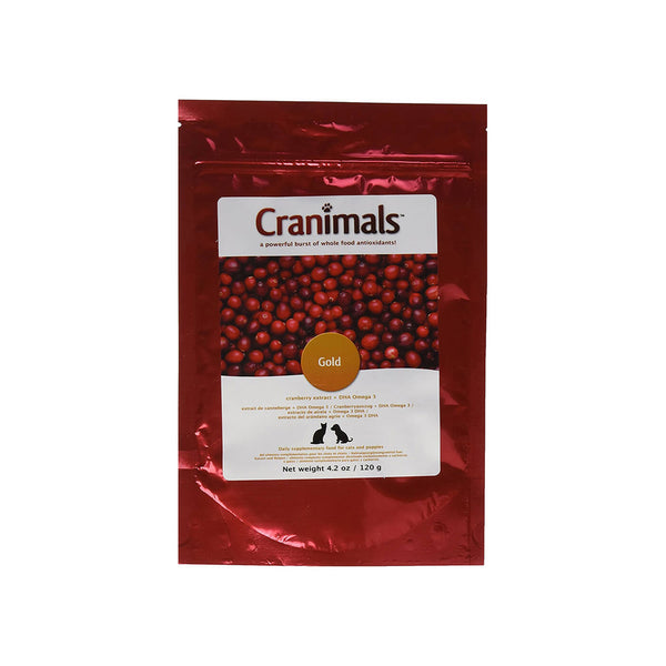 Cranimals Gold Cranberry Extract + DHA Omega 3 Supplement for Dogs & Cats