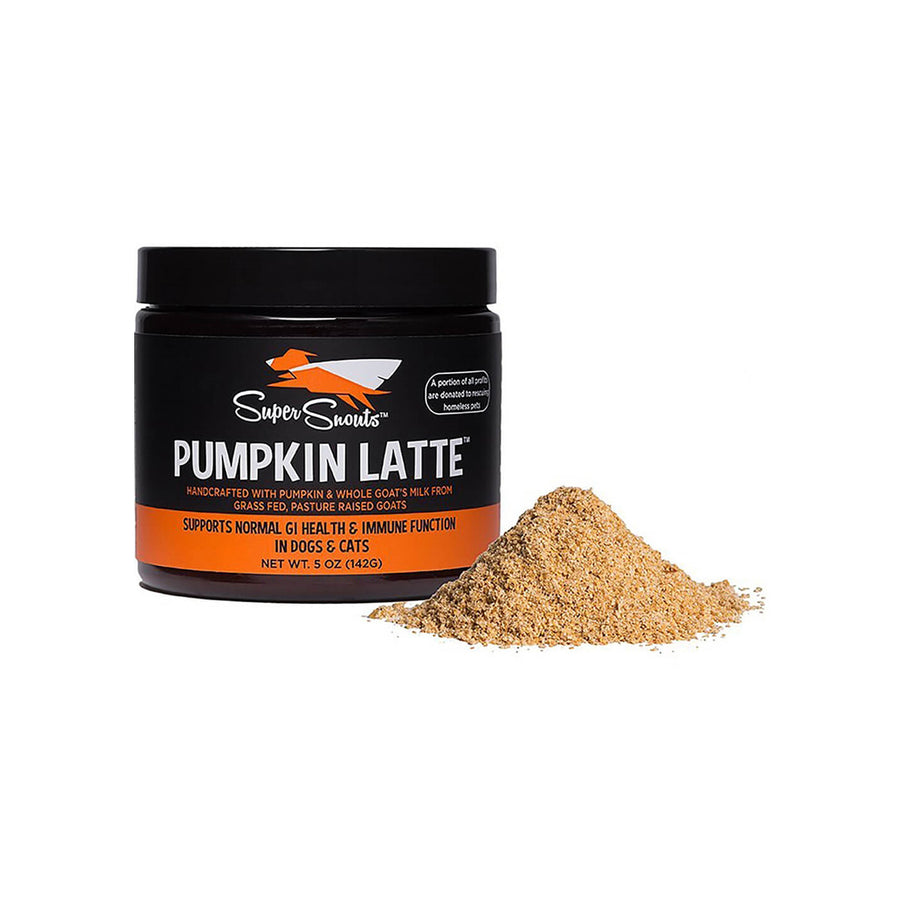 Super Snouts Pumpkin Latte Dehydrated Goat Milk Gastrointestinal Support for Dogs & Cats