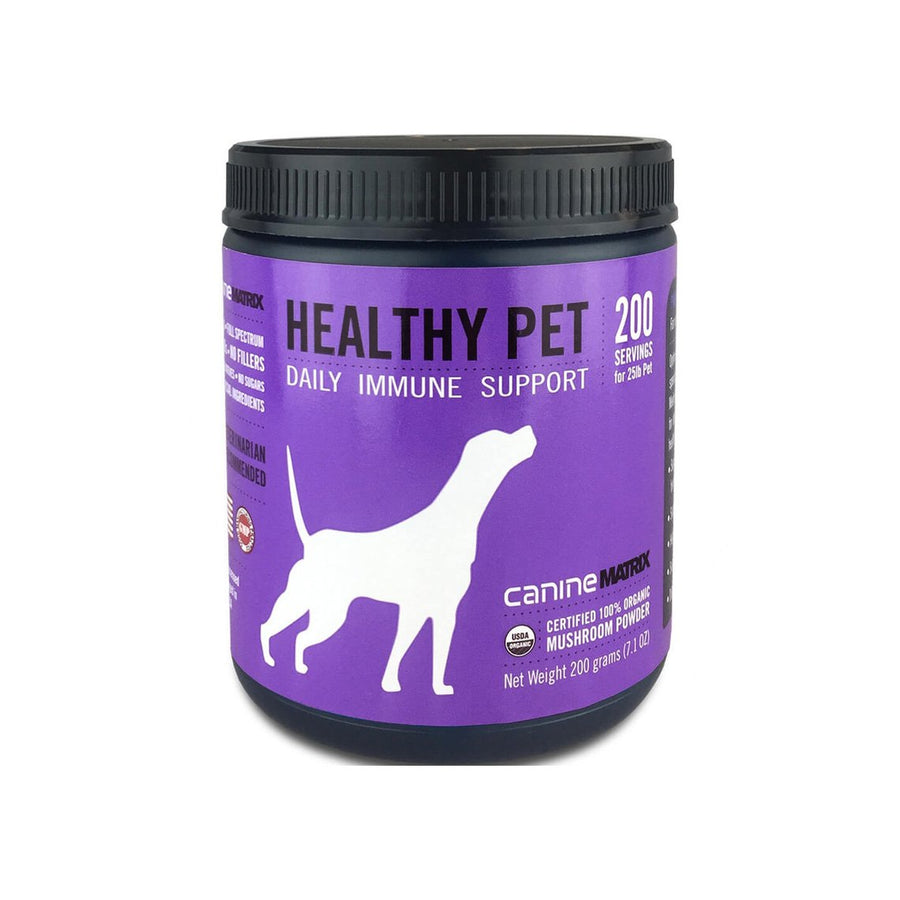 Canine Matrix Healthy Pet Organic Mushroom Immune Supplement for Dogs