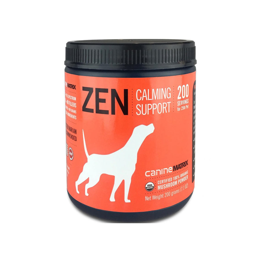 Canine Matrix Zen Organic Mushroom Calming Supplement for Dogs