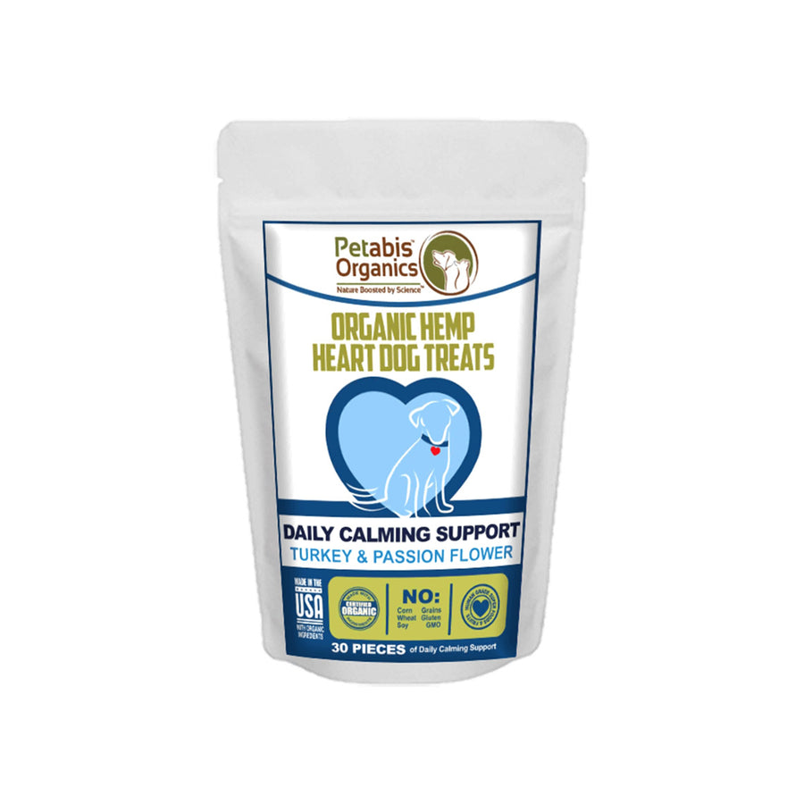 Petabis Organic CBD Hemp Heart Dog Treats