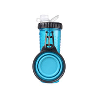 Dexas Popware for Pets Snack-DuO Travel Bottle & Cup for Dogs