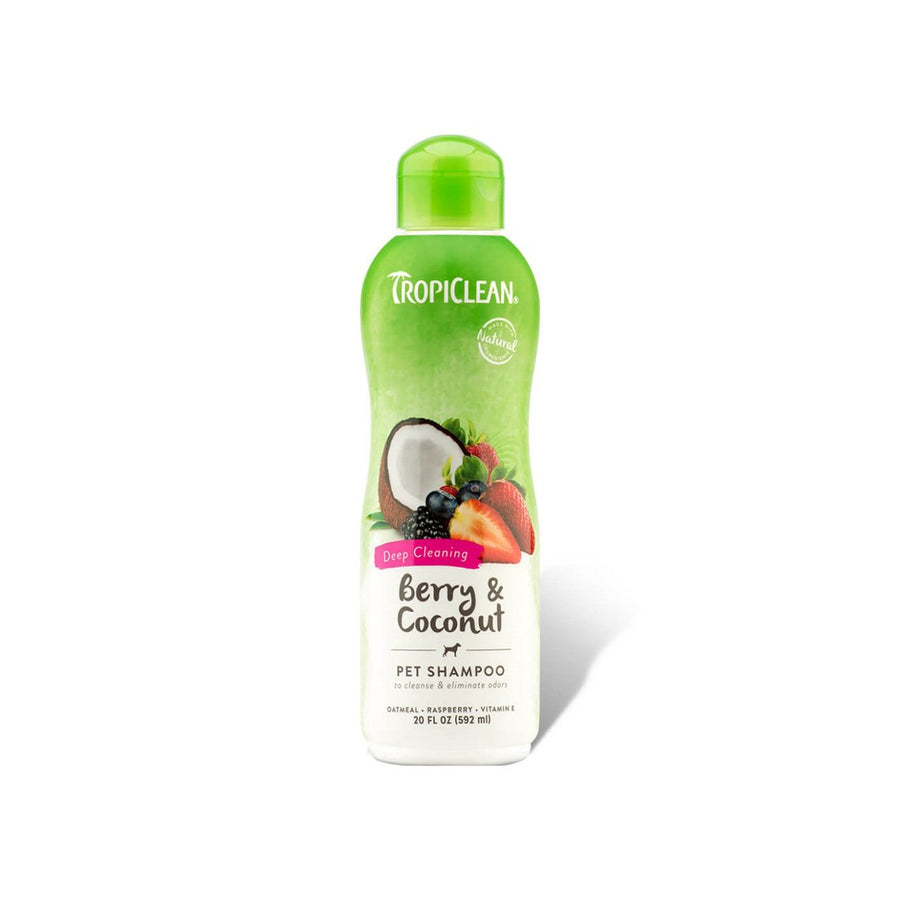 TropiClean Coconut Cleanser Shampoo for Dogs 20 oz Bottles