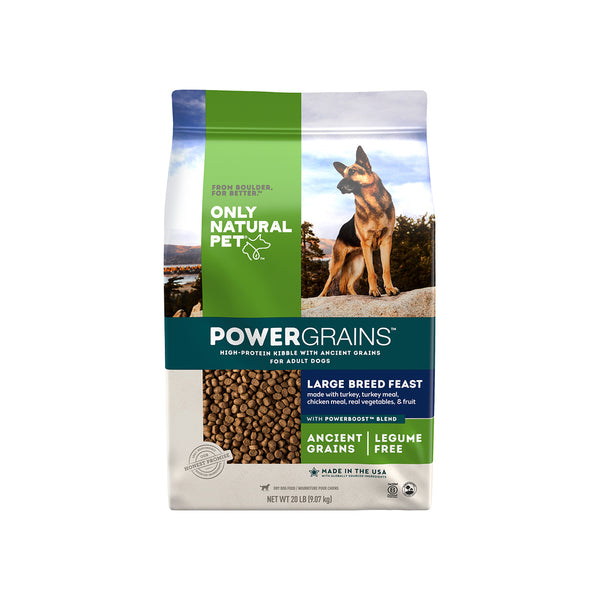 Only Natural Pet PowerGrains Large Breed Feast Ancient Grains Dog Food
