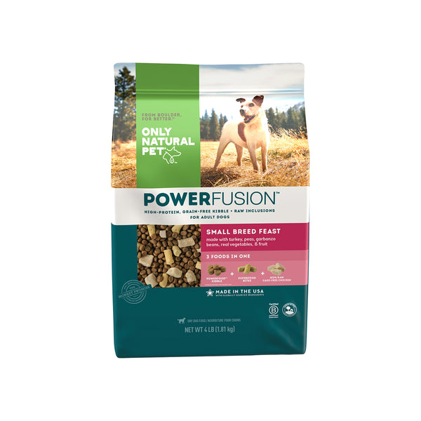 Only Natural Pet PowerFusion Small Breed Feast Dog Food Bag