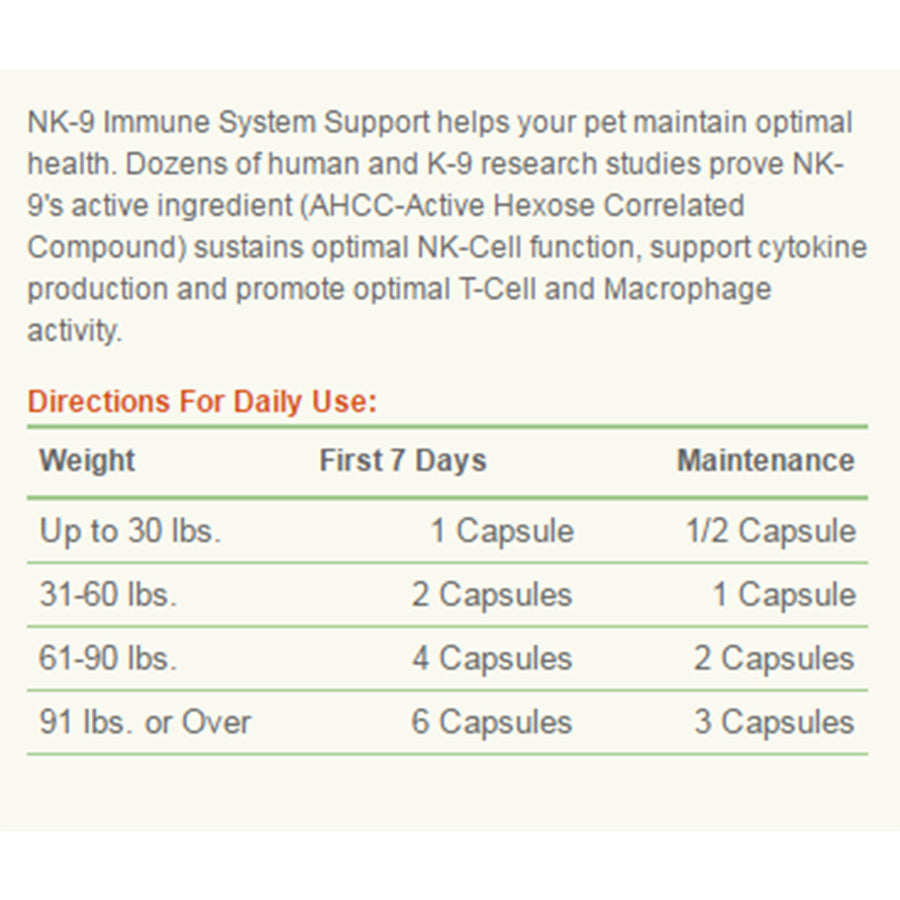 American Biosciences NK-9 Capsules Dosage