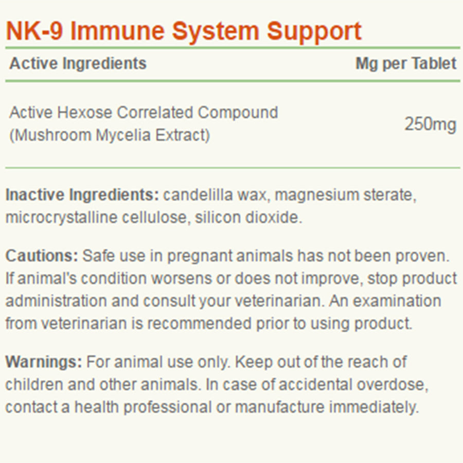 American Biosciences NK-9 Capsules Ingredients