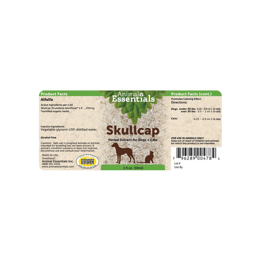 Animal Essentials Skullcap Label