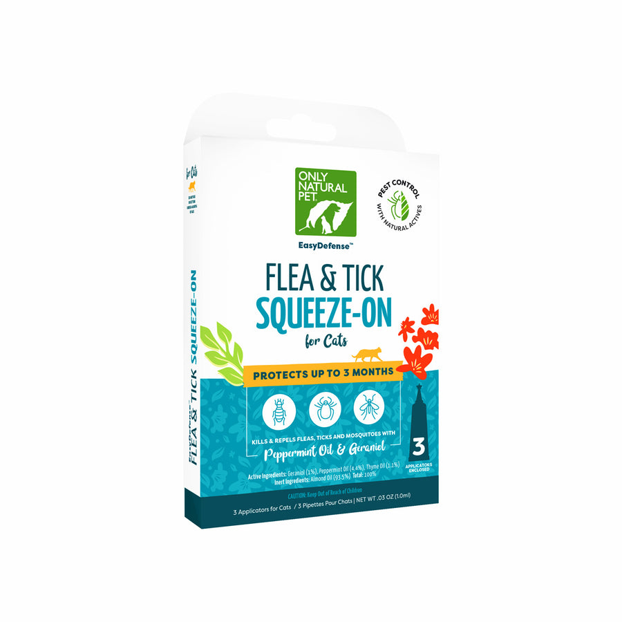 Only Natural Pet EasyDefense Herbal Squeeze-On Flea Treatment for Cats