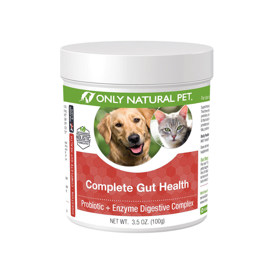 Only Natural Pet Complete Gut Health Complex Probiotics & Digestive Enzymes for Dogs & Cats