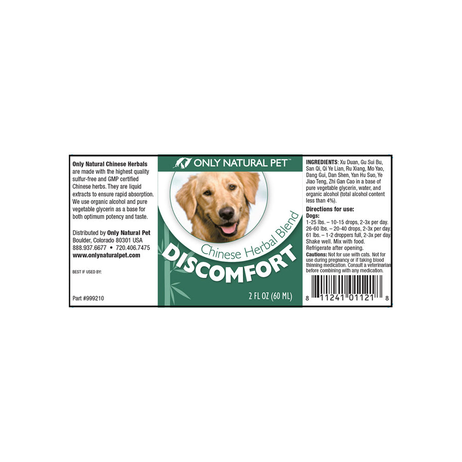 Only Natural Pet Discomfort Chinese Herbal Blend Formula for Dogs
