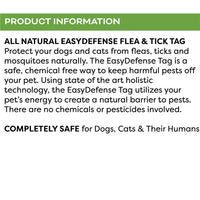 Only Natural Pet Easy Defense Flea & Tick Tag for Dogs & Cats