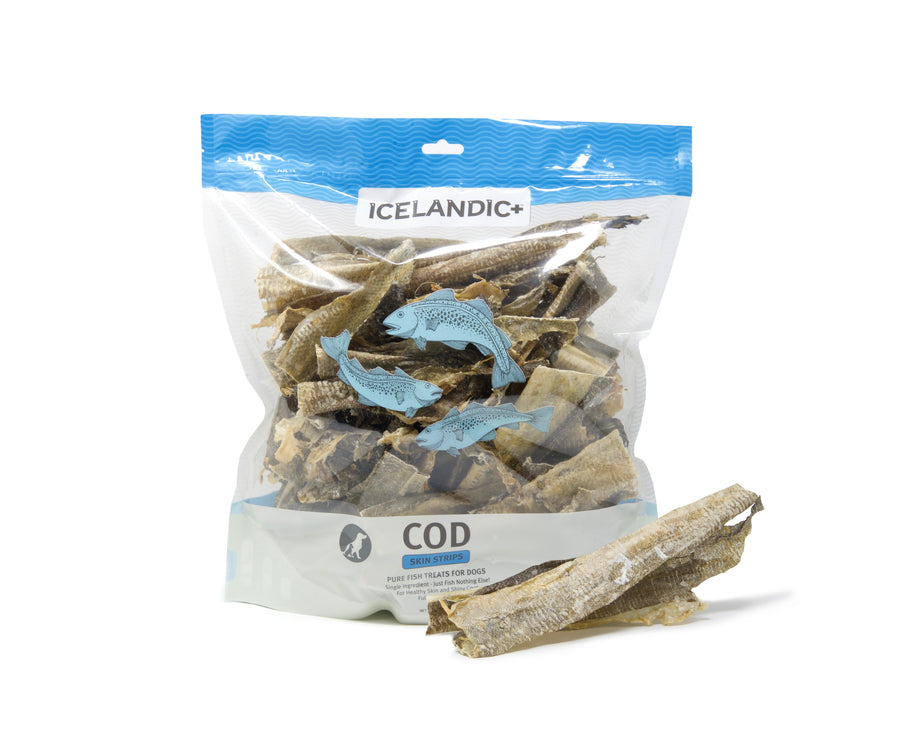 Icelandic+ Grain-Free Cod Skin Fish Chews for Dogs