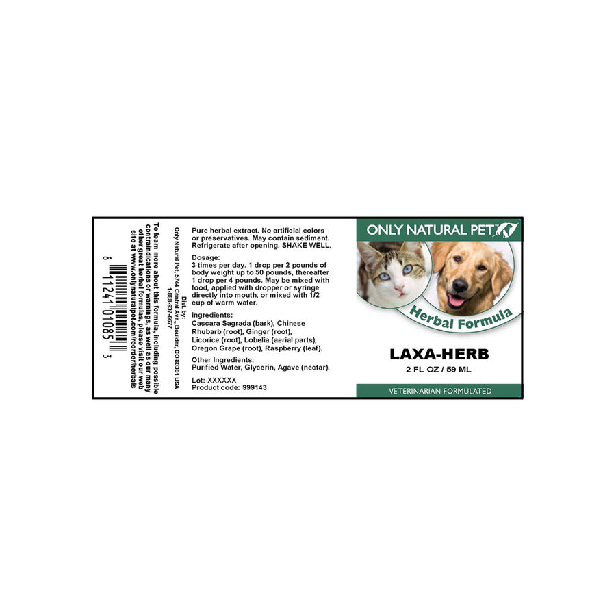 Only Natural Pet Laxa-Herb Herbal Formula