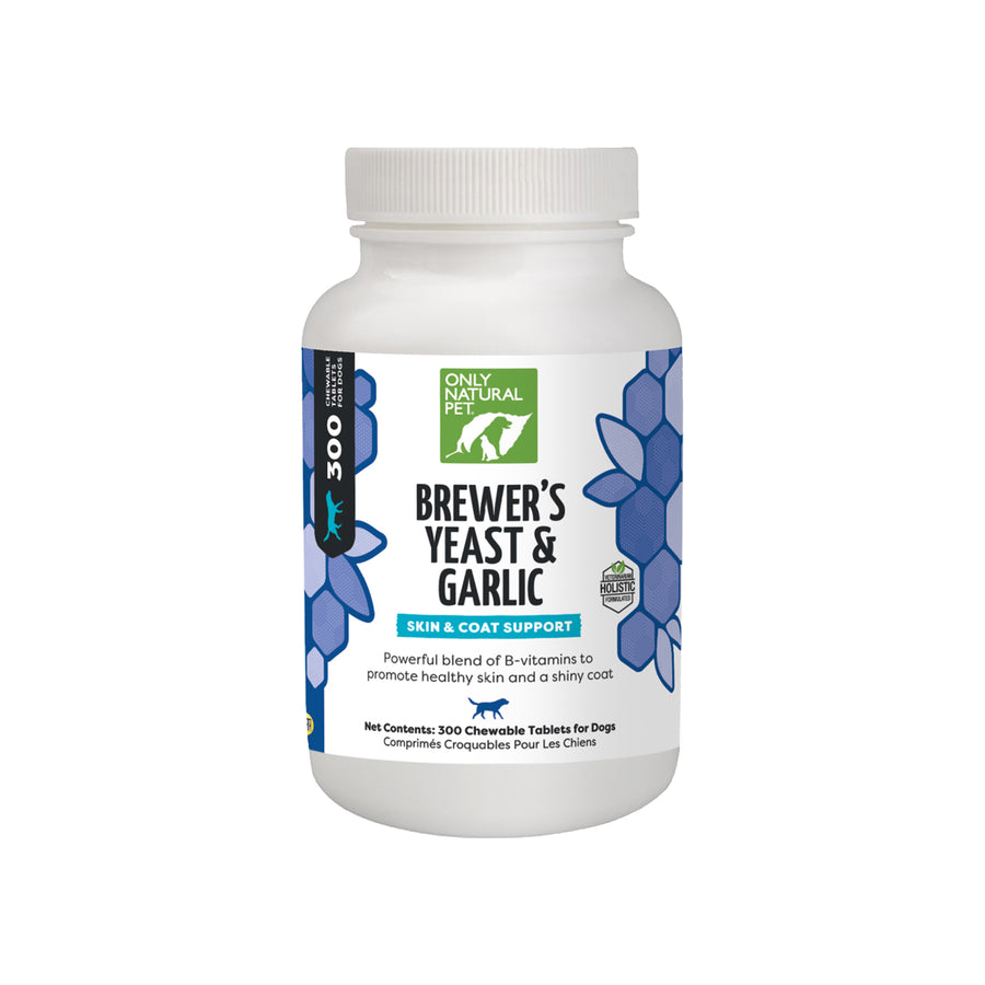 Only Natural Pet Brewers Yeast & Garlic Flea Pills for Dogs