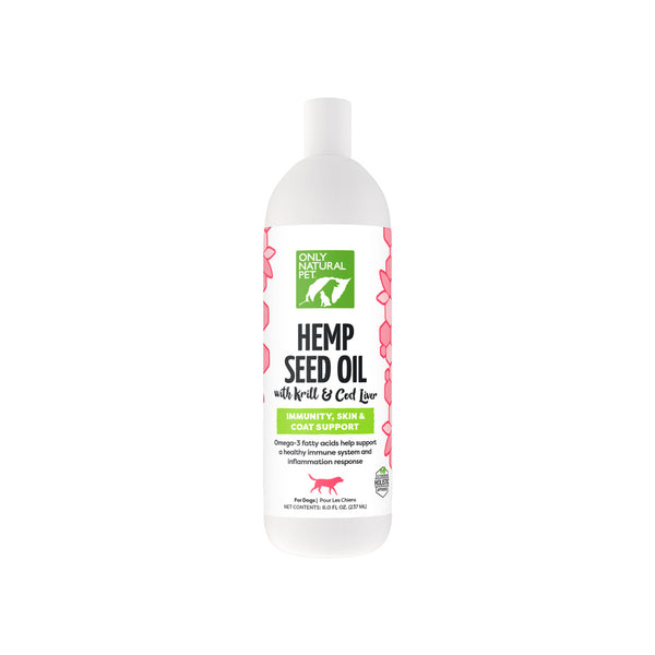 Only Natural Pet Hemp Seed Oil with Krill & Cod Liver Bottle