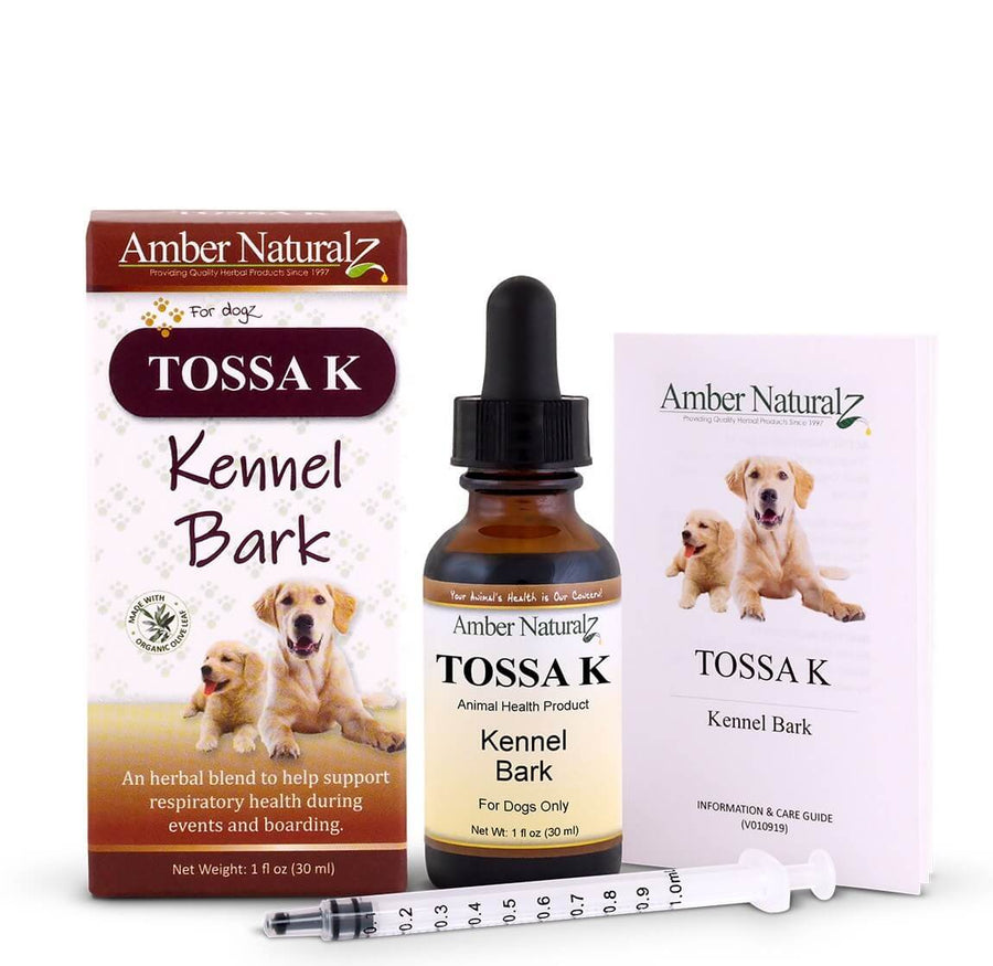 Amber Naturalz Tossa K Respiratory Support Herbal Liquid Supplement for Dogs & Cats