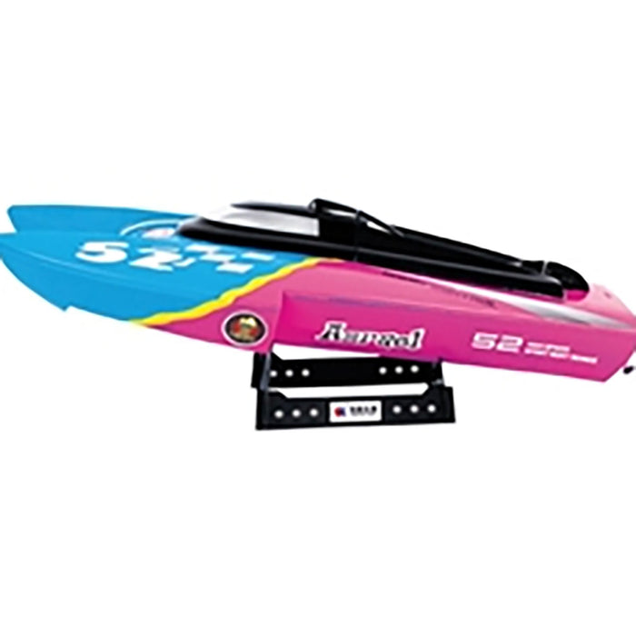 RC speed boat blue and pink
