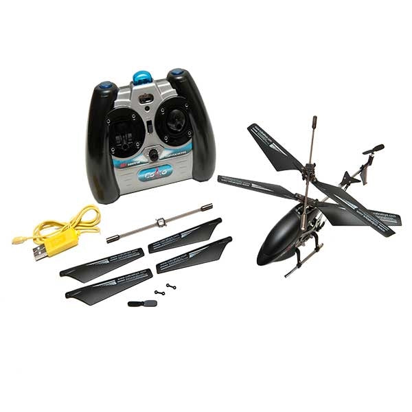 RC Helicopter S/E Matte Black 3.5 Channel with Gyro (Mini) with Remote and Parts