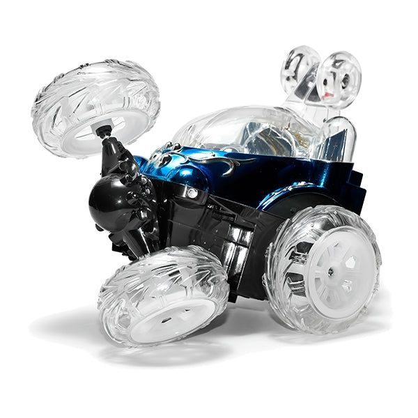 RC Car New Luna Stunt Blue Wheel Up