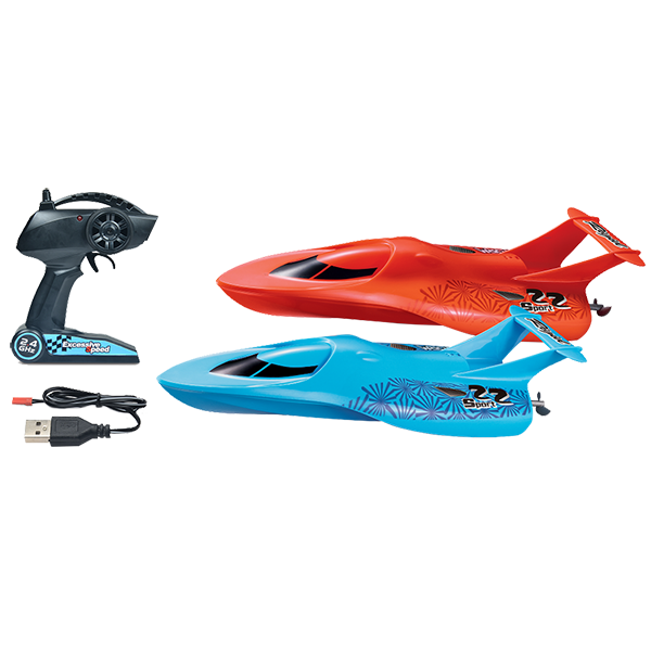 RC Arrow Electric Powered Racing Boats with Remote and Cable