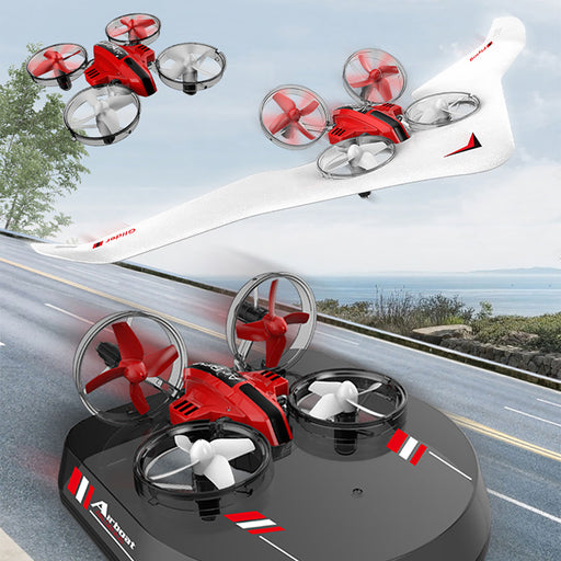 3 RC 3-in-1 Micro Drones showing all 3 features drone, glider and hoverboard