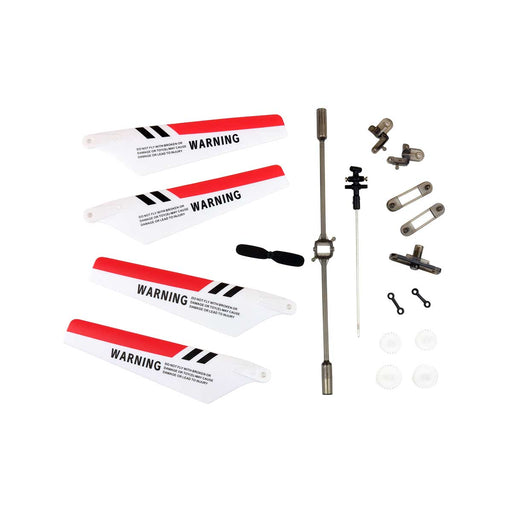 spare parts kit red with blades and spare parts for rc helicopter