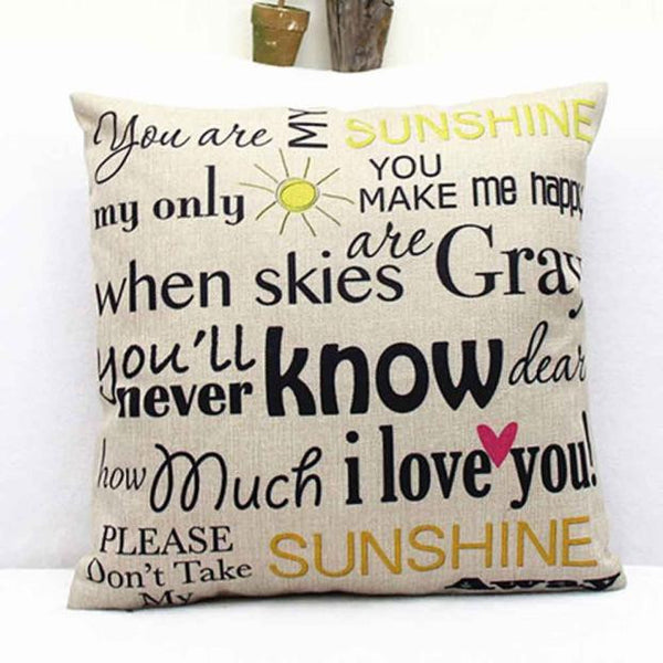 YOU ARE MY SUNSHINE Decorative Throw Pillow 40 Peachy Pillows Magnificent You Are My Sunshine Decorative Pillow