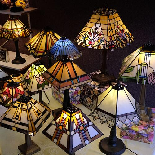 Mission Style Lamps from Memory Lane Lamps