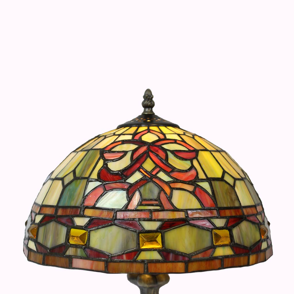 Amber Gems Tiffany Table Lamp from Memory Lane Lamps
