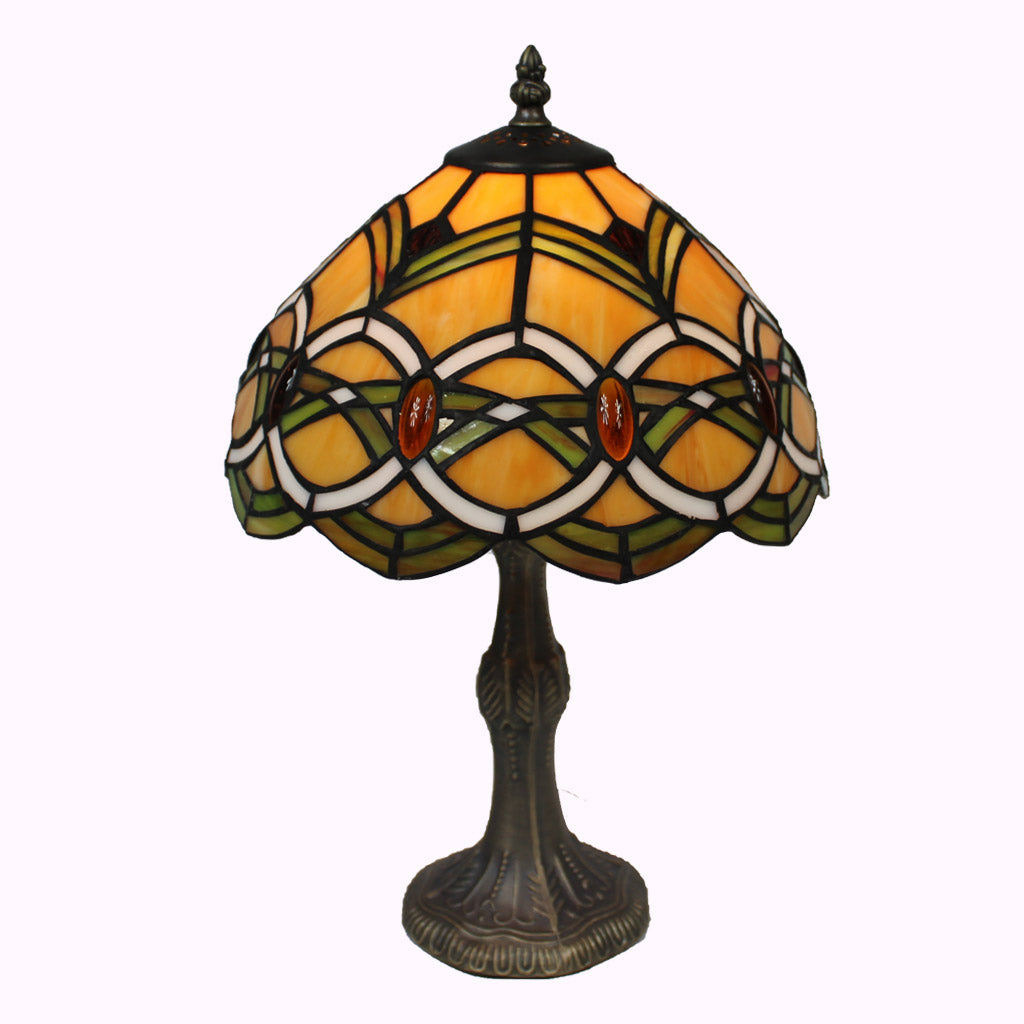 Amber Rings Tiffany Table Lamp