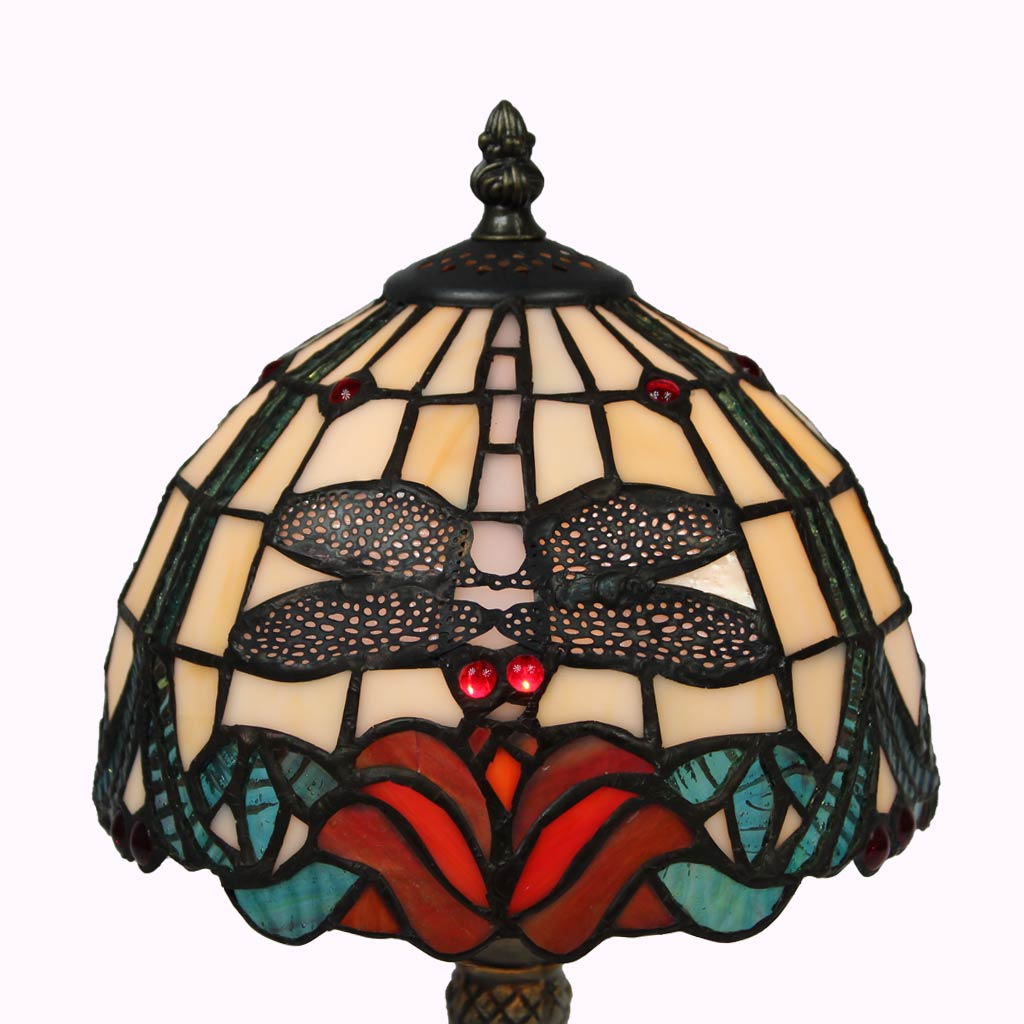 Baroque Dragonfly Tiffany Table Lamp