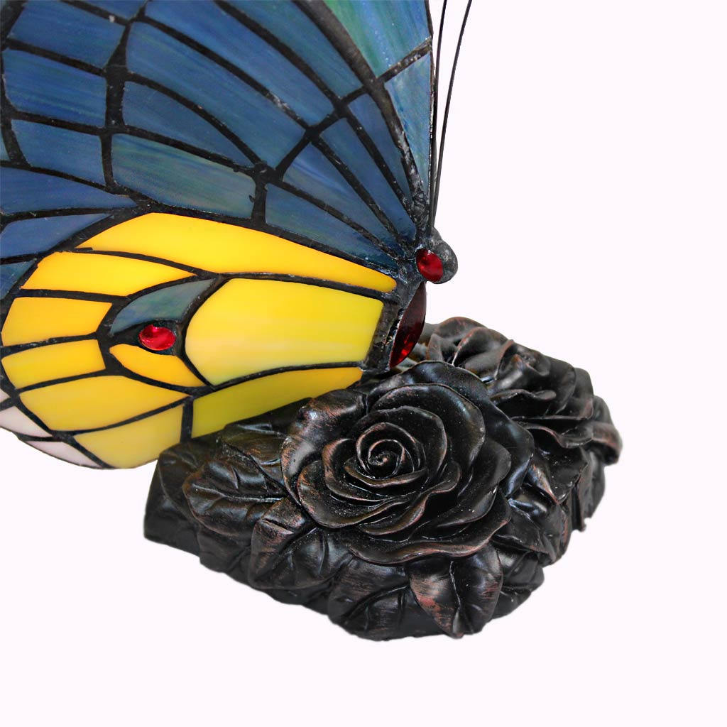 Blue Green Butterfly Lamp