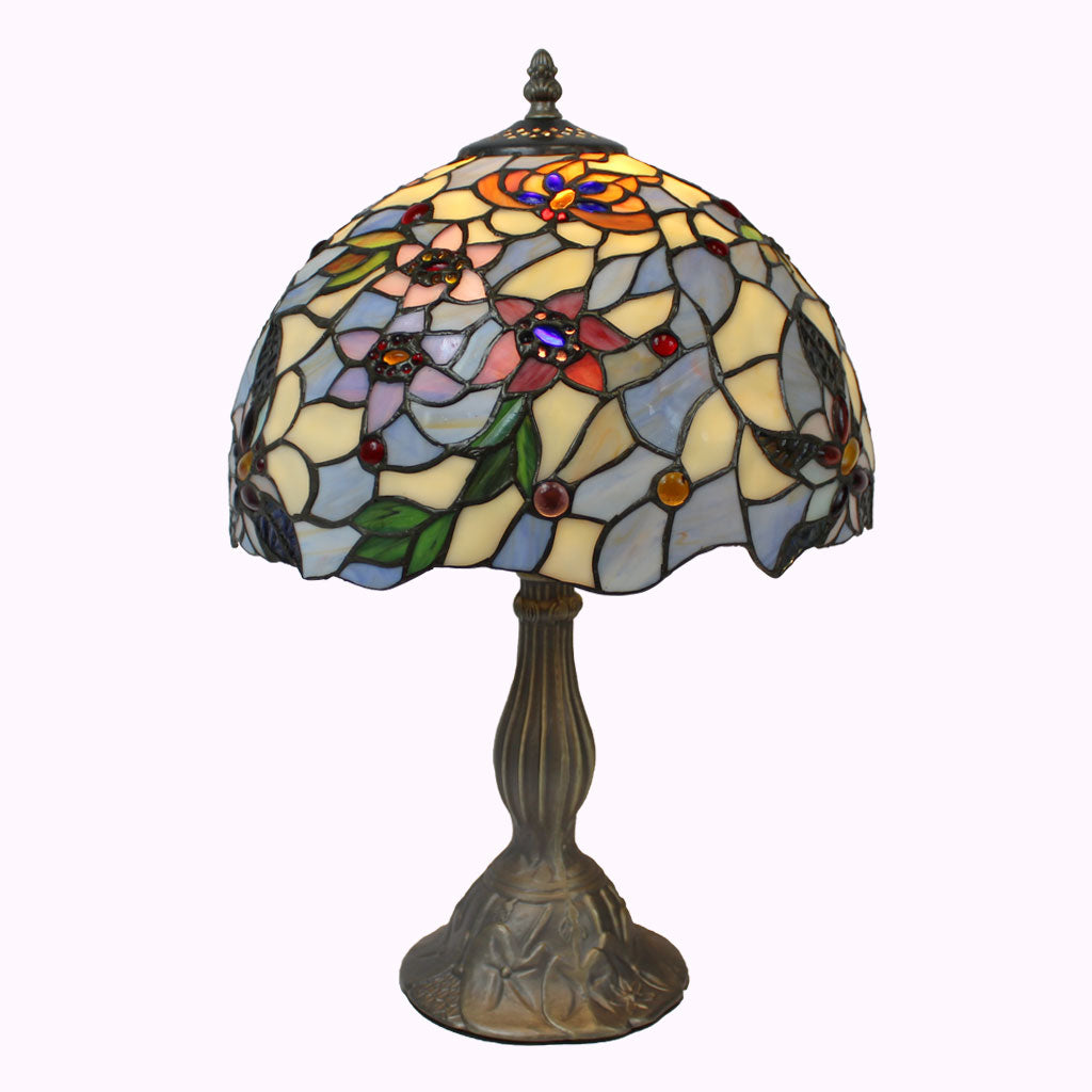 Blueberry Blossoms Tiffany Table Lamp