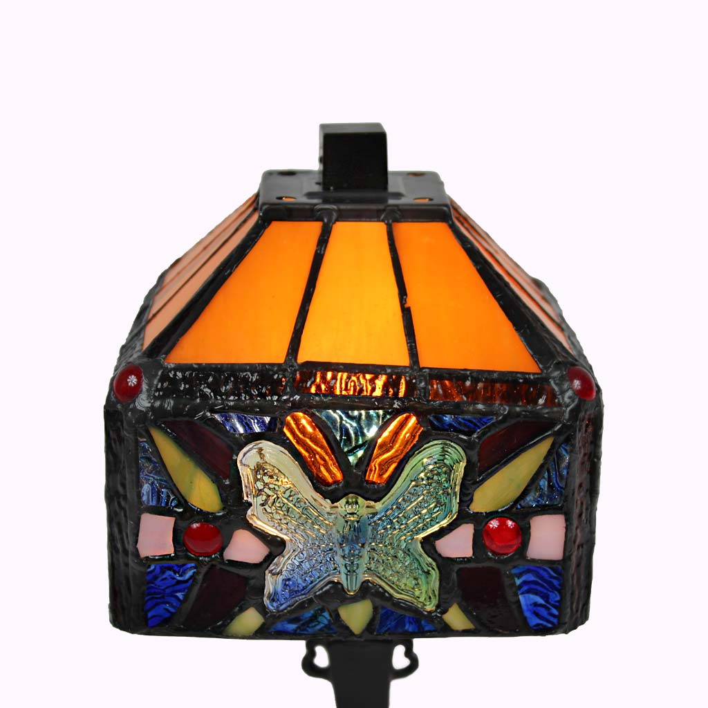 Butterflies and White Roses Mission Table Lamp