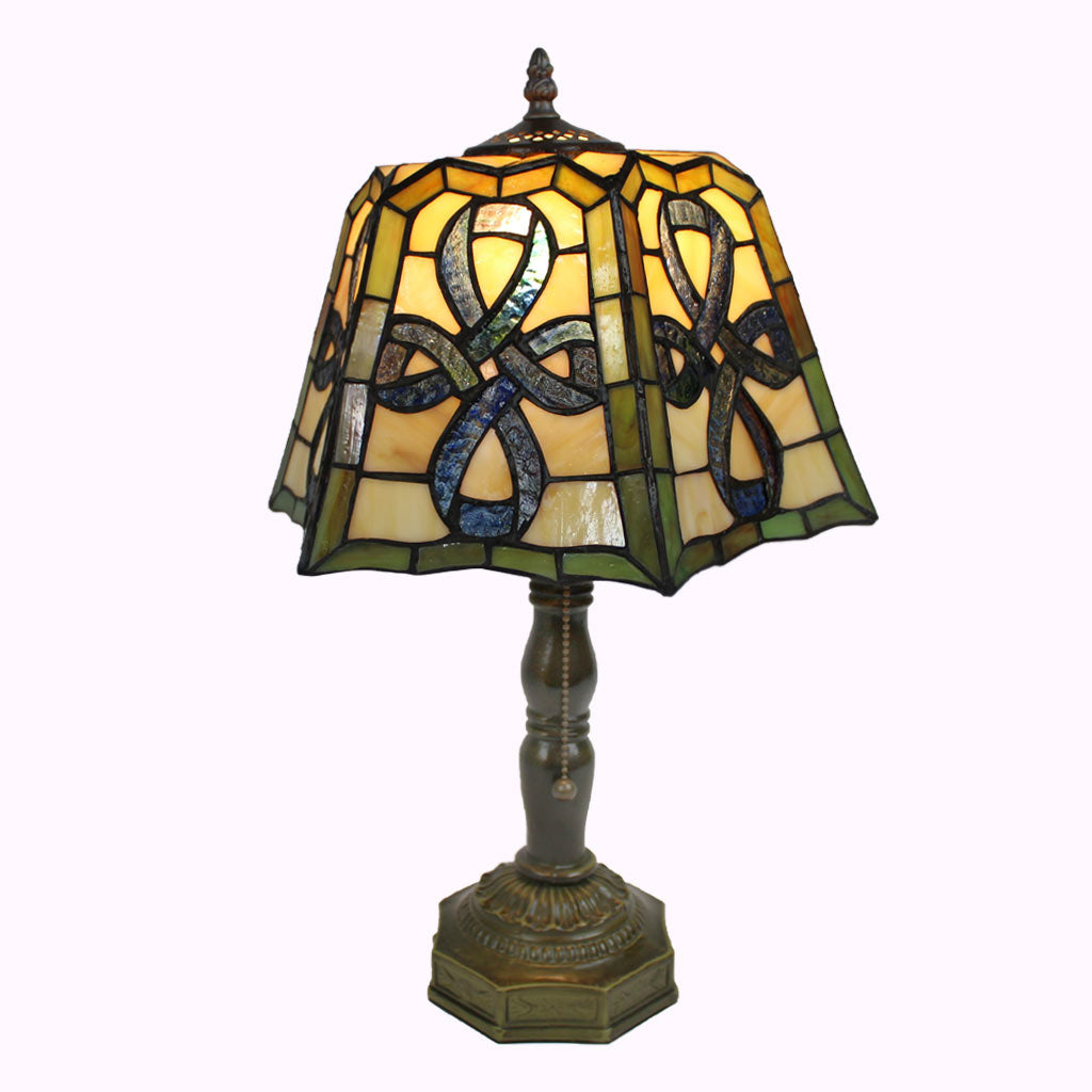 Celtic Cross Tiffany Table Lamp from Memory Lane Lamps