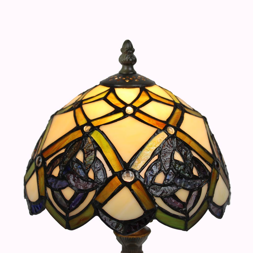 Celtic Eternity Knot Tiffany Accent Lamp from Memory Lane Lamps