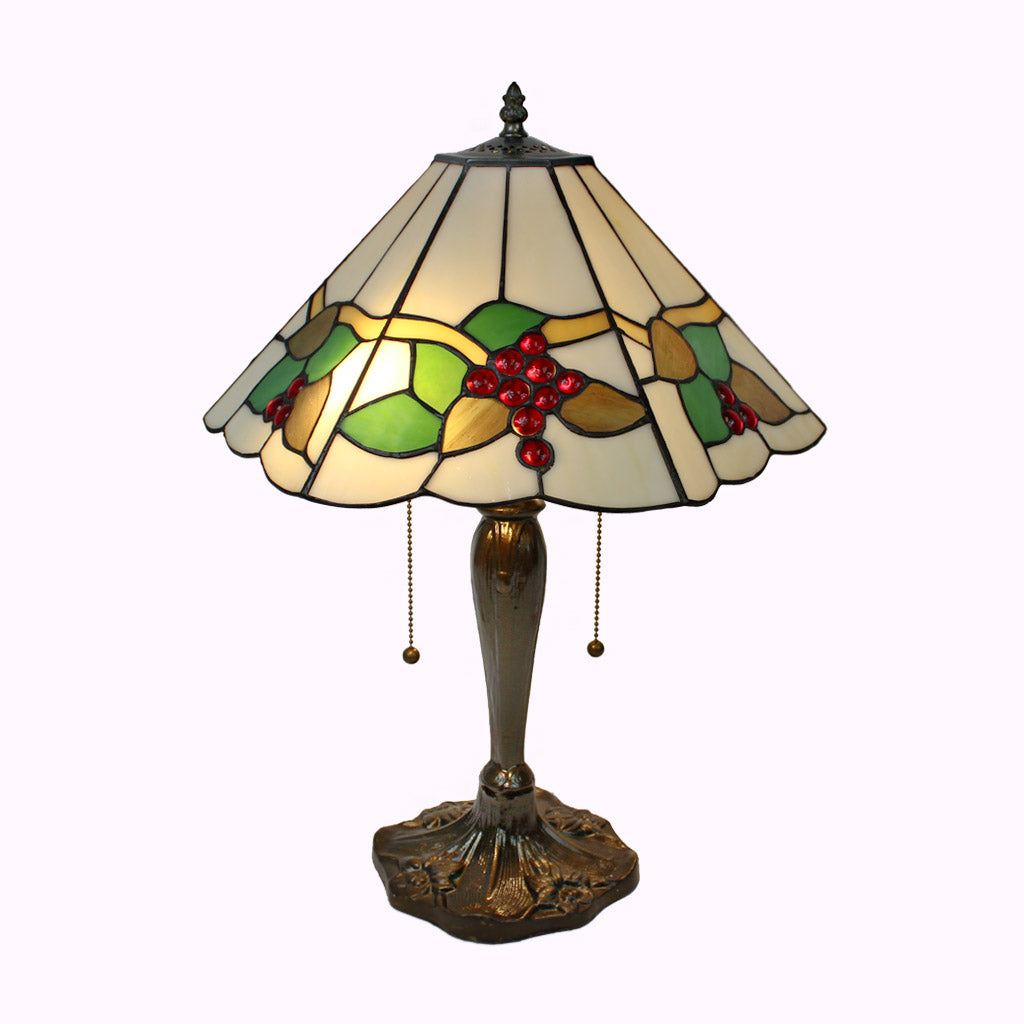 Cherries Jubilee Tiffany Table Lamp - Large