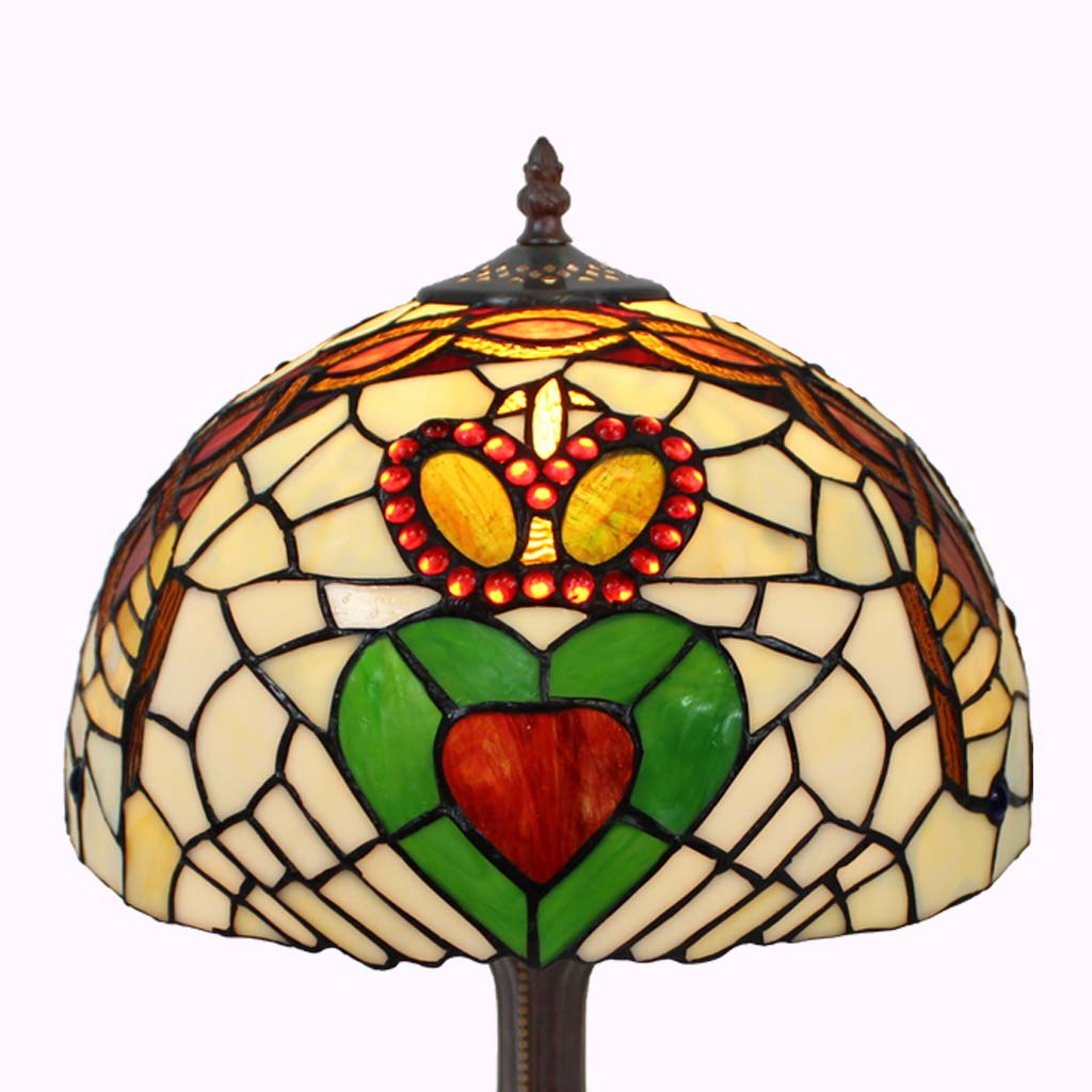Claddagh Tiffany Table Lamp from Memory Lane Lamps