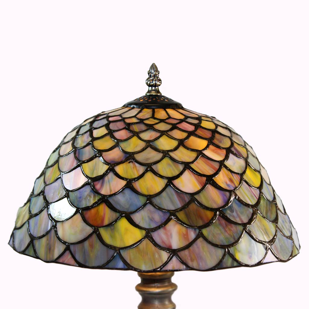 Clamshell Tiffany Lamp - Large