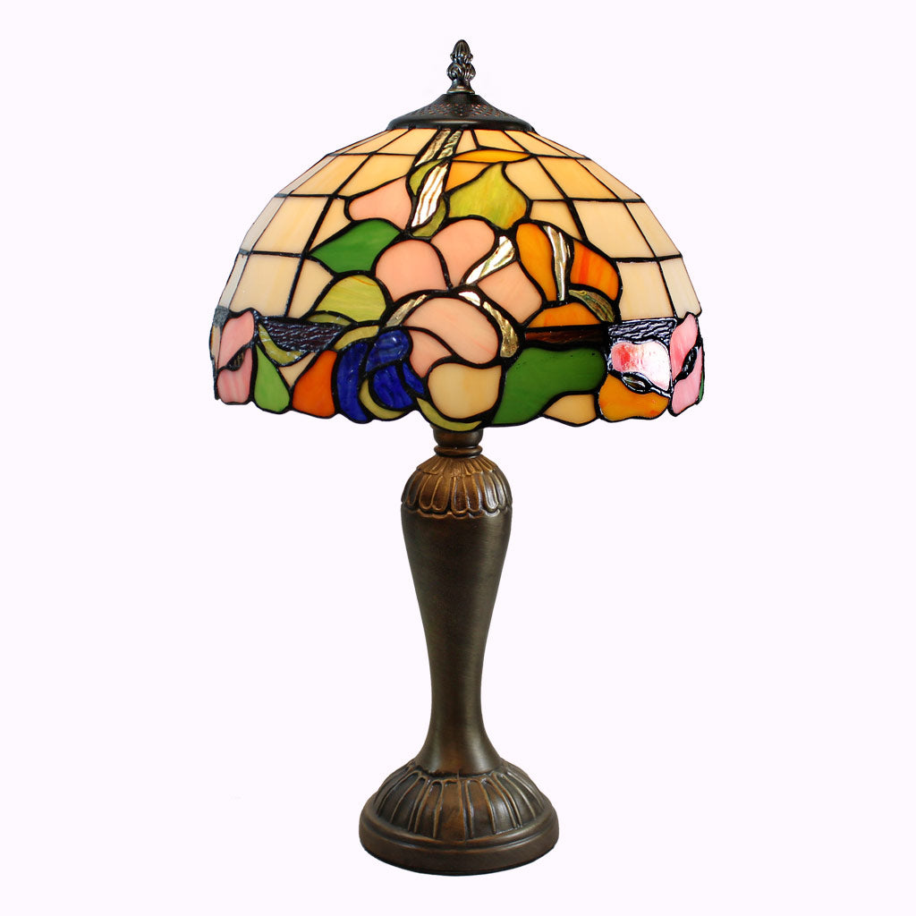 Colorful Calla Lily Tiffany Accent Lamp