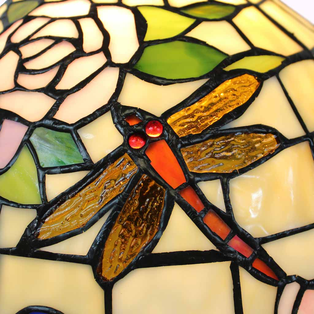 Dragonflies and Roses Tiffany Table Lamp from Memory Lane Lamps